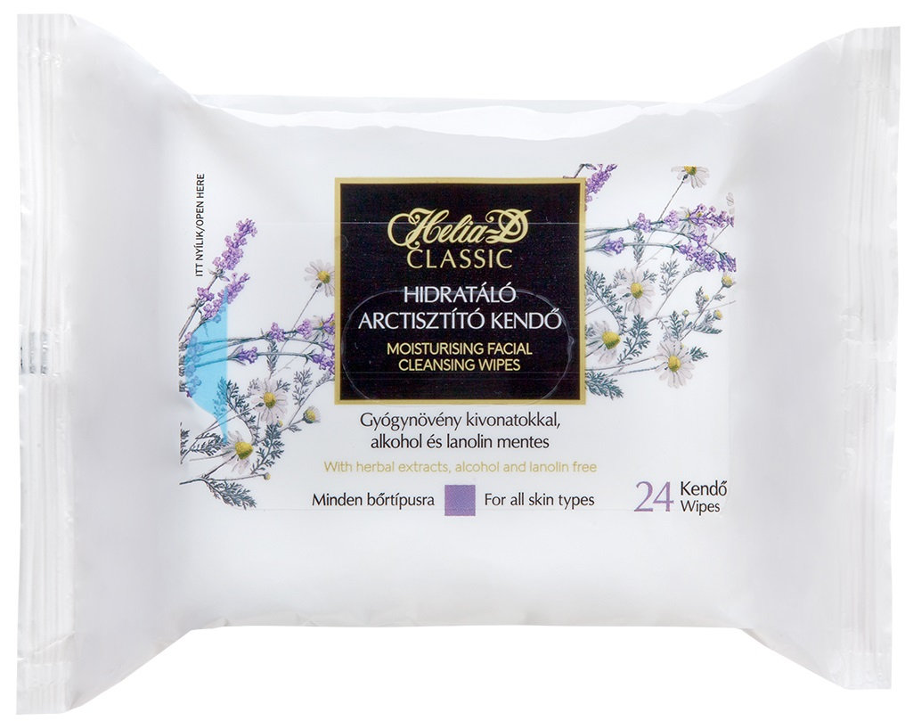 HELIA-D Moisturizing Facial Cleansing Wipes (24 Units)